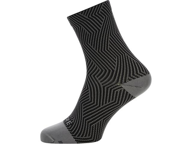 GORE WEAR C3 Optiline Mid-Cut Socken graphite grey/black